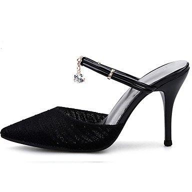 Noir Amande à cm ggx 9 Talons Aiguille Strass Eté Talon Femme almond Tulle LvYuan à 5 Chaussures 7 5 tPwqSSv