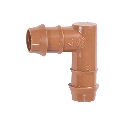 One Stop Outdoor 25-Pack - Drip Irrigation Universal Barbed Elbow Fitting, Fits of 17mm.600