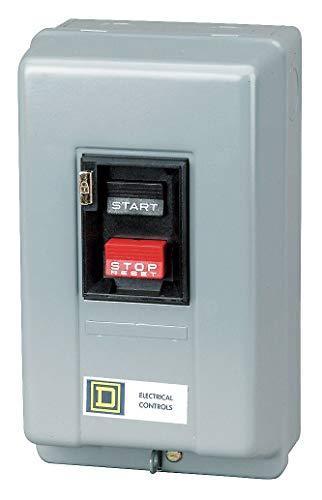 Square D Push Button Manual Motor Starter, Enclosure NEMA Rating 1, 30 Amps AC, NEMA Size:M-1 - 2510MCG3