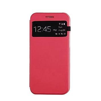 Amonfine - Carcasa rígida de cuero para HTC One M8 (ventana ...