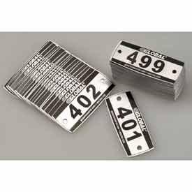 Global Industrial Locker Number Plate Kit - Pkg Of 200 Nu...