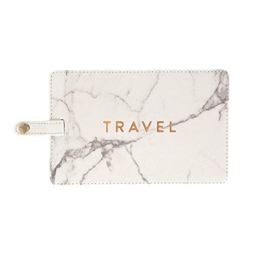 Eccolo World Traveler Epic Jumbo Luggage Tag (Marble - Travel) 4x6 inches (Tag Luggage World Traveler)
