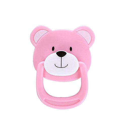 Sunny&Love ZHUOJU 1PC New Dummy Pacifier with Internal Magnetic Accessories for Reborn Baby Dolls (Pink)