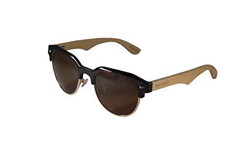 Zanzibar Brave Modelo Montura Polarizadas Bambú Lentes Madera Brown Crystal Gafas Varillas Y Sol De Acetato Certificadas a1IXHna