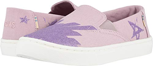 TOMS Kids Girl's Luca (Little Kid/Big Kid) Burnished Lilac Glitter Star Canvas 1 M US Little ()