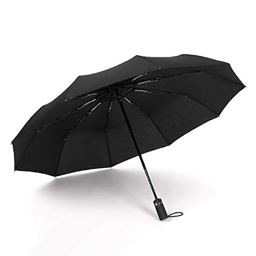 F.S.M. Automatic Folding Umbrella 1-2 People Windproof Umbrella Camping Sunshade with Umbrella Cover - Black by F.S.M.