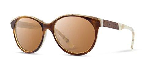 Shwood - Madison Oval Acetate & Wood Sunglasses - Salted Caramel // ()