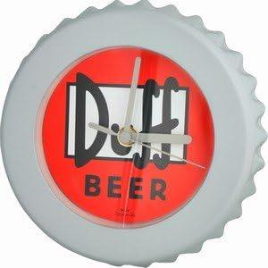 WESCO Es de Los Simpson - Vasos de Cerveza Duff Botella de Reloj de Pared en la Parte Superior