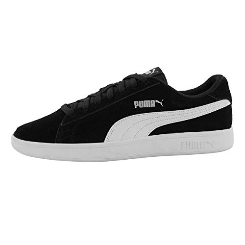 PUMA Men's Smash v2 Lace Up Fashion Sneaker Blk/Wht 9.5 M US