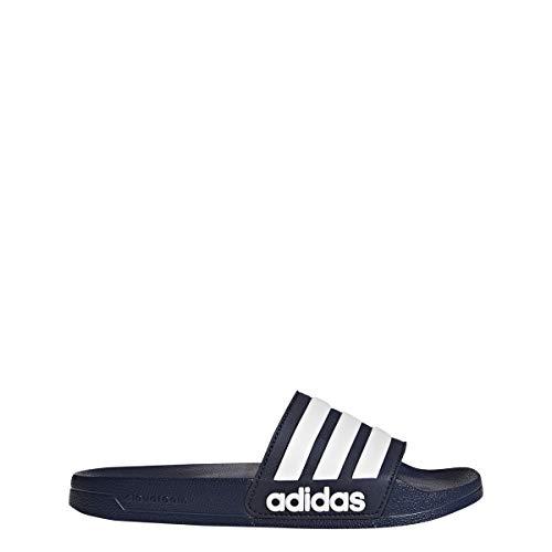 Adidas Originals - Adilette regadera Hombres, Azul Marino/Blanco/Azul Marino (Collegiate Navy/White/Collegiate Navy), 13 D(M)...