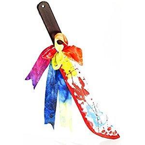 Giant Bloody Plastic Clown Machete Prop - Clown Props