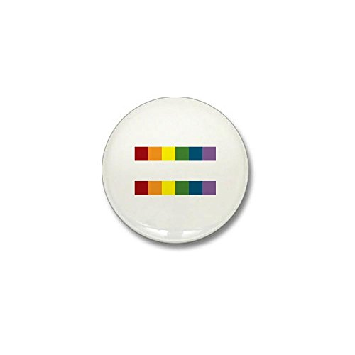 CafePress - Gay Rights Equal Sign Mini Button - 1