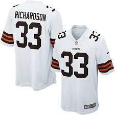 Camiseta de equipo de fútbol americano Nike Game Cleveland Browns - Richardson #33 - grande