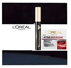 L Oreal estuche crema activa Antirughe 50 ml + mascara negro voluminousx5: Amazon.es: Belleza