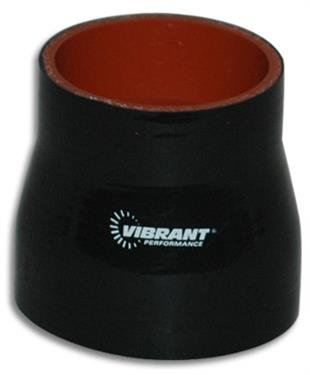 VIBRANT 2761 4 Ply Reinforced Silicone Sleeve Connector, Black