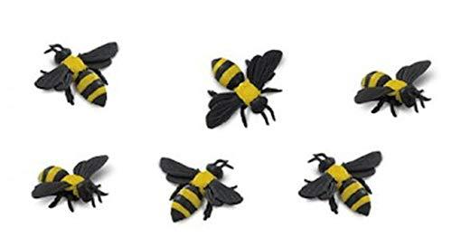 Safari Ltd. - Good Luck Minis - Yellow Bumble Bees - Set of -
