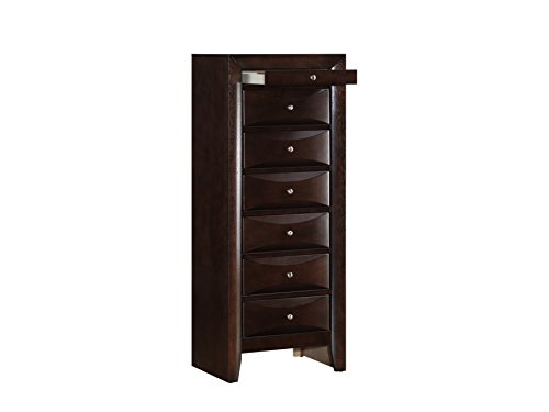 Glory Furniture G1525-LC 7 Drawer Lingerie Chest Cappuccino 7 Seven Drawer Lingerie Chest