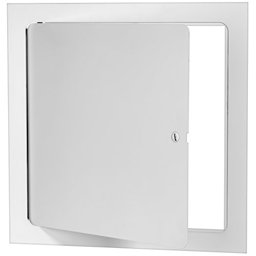 Premier 5000 Series Commercial Grade Steel Access Door, 12 x 12 Flush Universal Mount, White (Screwdriver Latch)