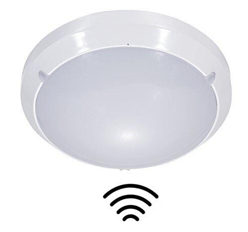 ZEYUN Luz de sensor de microondas para techo y pared, 16W, 4000K, interior