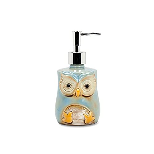 Abbott Collection Stoneware Owl Soap/Lotion Pump
