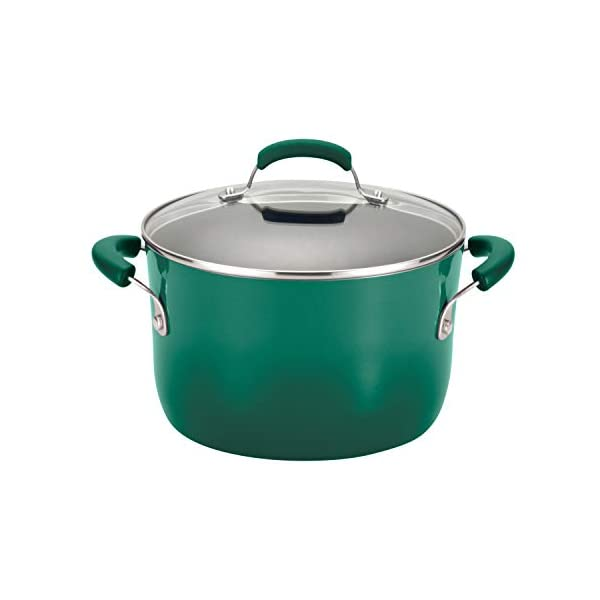 Rachael Ray Brights Nonstick Cookware Pots and Pans Set, 14 Piece, Fennel Gradient 2