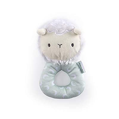 Ingenuity Premium Soft Plush Ring Rattle - Sheppy The Sheep, Ages Newborn + : Baby