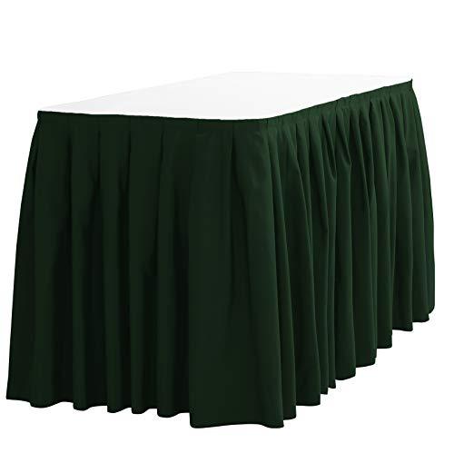 Green Plastic Table Skirt - 9