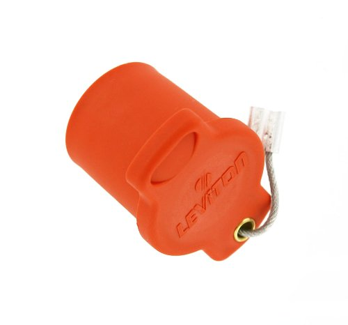 Leviton 16P22-O 16 Series Female, Protective Cap, Commercial Grade, Cam-Type Connector, Orange