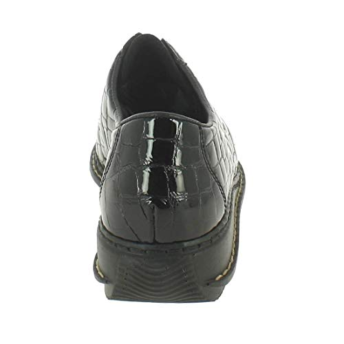 cuir noir 44310 Noir RIEKER 00 Derby verni qwOPPg
