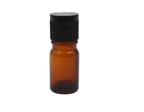 TOPWEL 5ml 6PCS Refillable Glass Essential Oil Bottle with Plastic Flip Top Lid - Transparent Top Flip