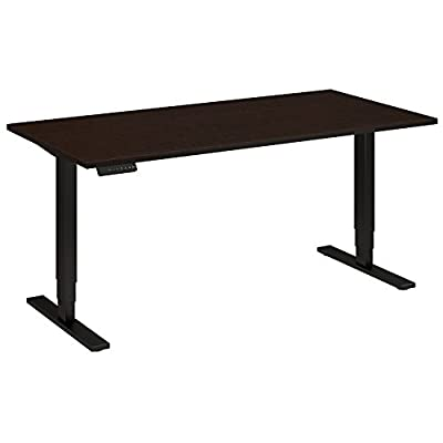 Move 80 Series 60W Height Adjustable Standing Desk in Mocha Cherry with Black Base