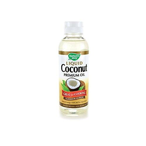 Nature's Way - Aceite líquido del premio del coco - 10 oz.