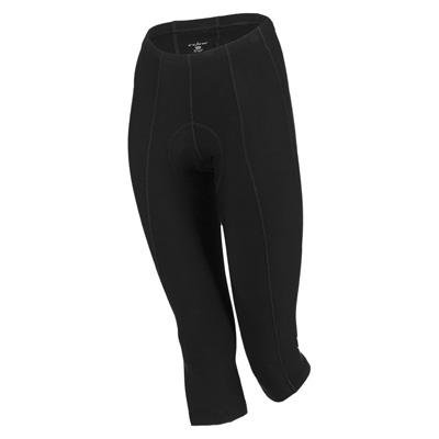 Knicker Capris - Shebeest 2014/15 Women's Pedal Pusher Cycling Capri Knicker - Plus Size - 3006P (Black - 3X)