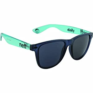 Neff Daily Shades Men's Sunglasses with Cloth Pouch - 100% UV Protection Sunglasses for Men - Sunglasses for Cycling, Running and Driving,Black/Ice