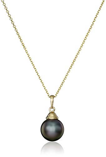 14k Yellow Gold Natural Color Tahitian Cultured Pearl Necklace (Natural Mother Of Pearl Necklace)