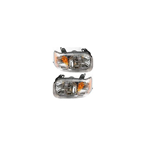 Single Halogen Assembly - Headlight Set Of 2 For Escape 01-04 Right and Left Side Assembly Halogen