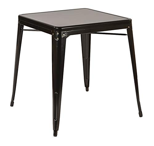 Steel Dining Table - Dining Table - Black -
