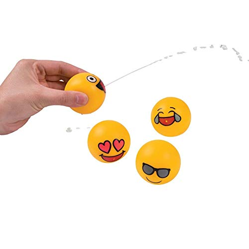 (Emoji Squirt Toy Party Favors - 12 ct)