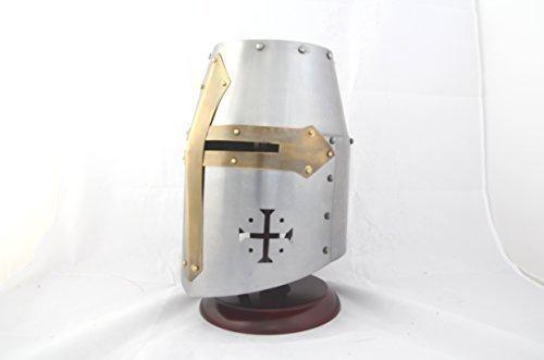 Ectoria EC01-052 Crusader's / Templar's Knight Helmet (LARP / SCA / Medieval ) (Mens Templar Knight Costume)