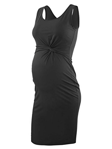 Liu & Qu Women's Maternity Casual Sleeveless Tank Dress Waist Kink Bodycon Dresses For Daily Wearing & Baby shower