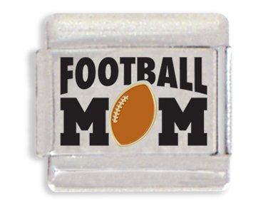 Football Mom Laser Italian Charm Bracelet Link