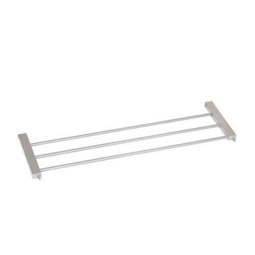 Hauck / Rallonge de Barrière de Protection de 21 cm / compatible avec notre barrière Wood Lock Safety Gate / barrière à rallonger jusqu'à 123 cm avec 2x21cm rallonges / fixation sans perçage / à serrer / utilisable sur les deux côtés, argent (silver) 59689