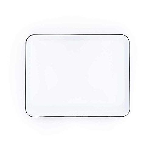 Enamelware Jelly Roll Pan, 16 x 12.25 inches, Vintage White/Black