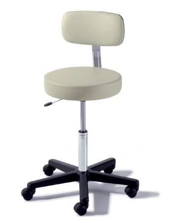 Alimed Exam Stool Ritter 273 Value Series Backrest Pneumatic Hand Operated 5 Casters Ultra Arctic