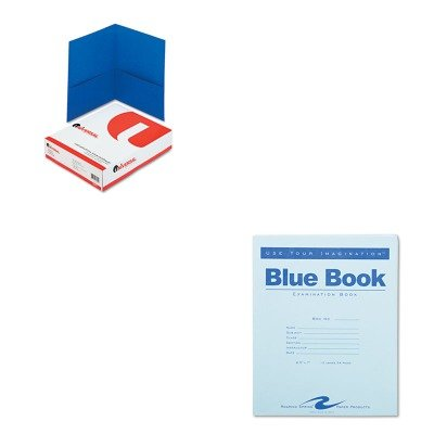 KITROA77513UNV56601 - Value Kit - Roaring Spring Exam Blue Book (ROA77513) and Universal Two-Pocket Portfolio (UNV56601) by Roaring Spring
