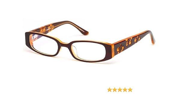 869f8aa75f2d Amazon.com: Childrens Flower Girl Glasses Frames Brown Kids Prescription  Eyeglasses 43-16-125: Clothing