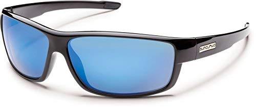 Suncloud Optics Voucher Polarized Sunglasses(Blue Mirror Polarize,Black) by Suncloud