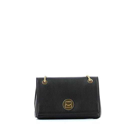Liya mini shoulderbag in leather Noir/Noir