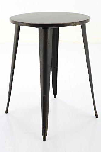 Vogue Furniture Direct 40.7'' Round Metal Bar Table in Antique Matte Black/Gold VF1581042 by Vogue Furniture Direct