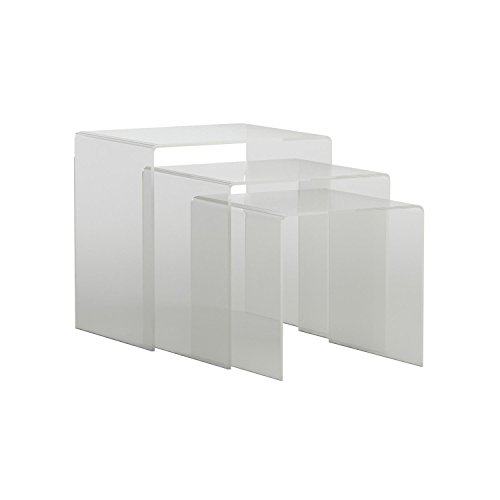 Baxton Studio Acrylic Nesting Tables Clear Kitchen In The UAE - Clear nesting tables